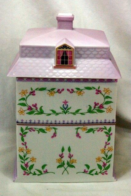 Lenox 1990 The Lenox Village Victorian House Coffee Canister image 3