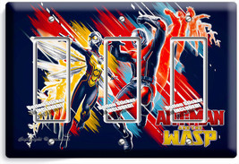 Ant Man And The Wasp Small Superheroes 3 Gfci Light Switch Wall Plate Room Decor - $16.19