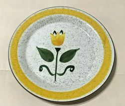 """STANGL NEW YELLOW TULIP (RED BODY) BREAD AND BUTTER PLATE  6 1/4"""" - $9.95"""