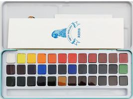 MeiLiang Watercolor Paint Set, 36 Vivid Colors in Metal Box image 3