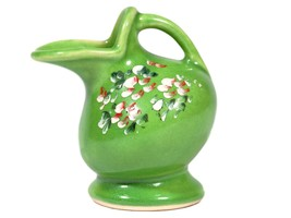 Vintage Tiny Ceramic Hand Painted Pitcher - $9.05