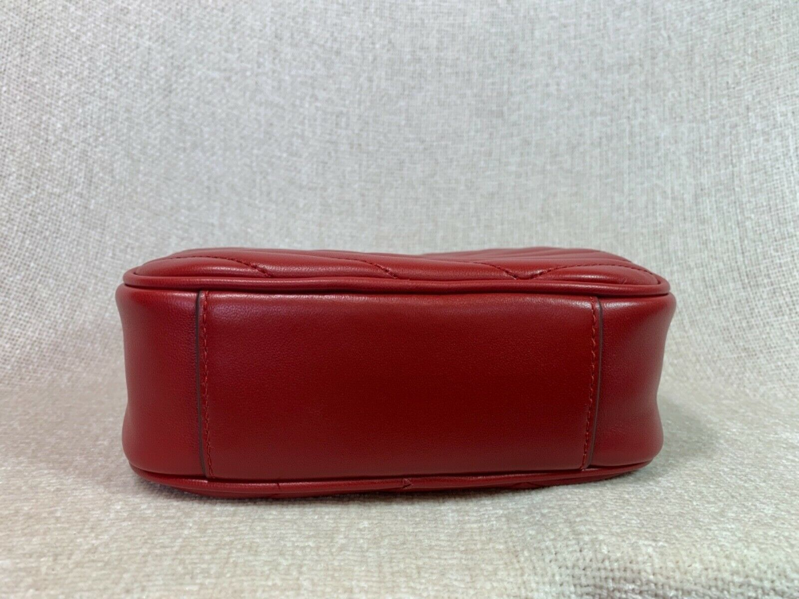 NWT Tory Burch Red Apple Kira Chevron Small Camera Bag $358 image 10