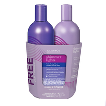 Clairol Professional Shimmer Lights Blonde & Silver Duo + Violet Toning ... - $33.00