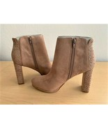 NEW GUESS Women's Beverly2 Ankle Boots - Light Pink Fabric - Size 9.5 - $39.11