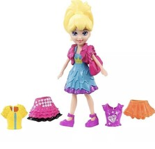 Polly Pocket Fashion Small Pack Polly with Blue Dress - $17.75