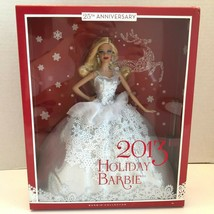 2013 Mattel Holiday Barbie Doll Collector 25th Anniversary Blonde Silver... - $49.99