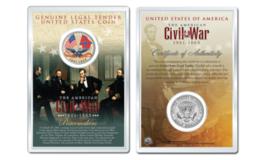 American CIVIL WAR - Flags OFFICIAL JFK Half Dollar U.S. Coin in PREMIUM... - $10.84