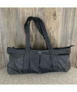 "GAIAM瑜伽袋/行李袋/健身房袋〜Carry-All〜Heather Grey〜100%尼龙(24"" x 1 ...-$ 15.84"