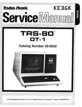 Radio Shack TRS-80 DT-1 Service and Instruction Manual * PDF * CDROM - $8.99