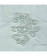 Special Buy 50 Clear Glass Crackle Beads 8 mm Jewelry Craft - $4.00