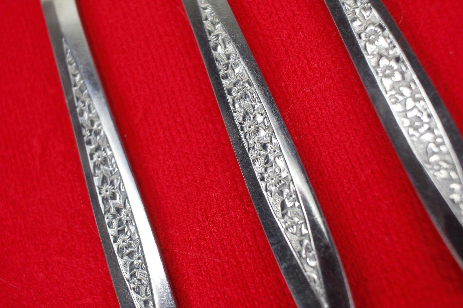 3X Dinner Knives Superior International Silver Petal Lane Stainless Flatware