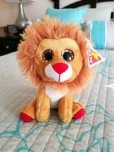 "DAKIN LION PLUSH STUFFED ANIMAL 8""  Stuffed Toy Ages 3 and up - $6.88"