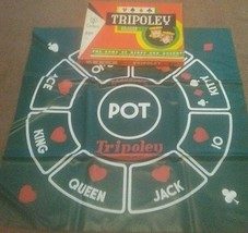 Tripoley Deluxe Edition Mat No. 111 Game of Kings and Queens 1965 Cadaco - $10.84
