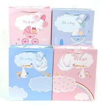 10 1/2W x 13H x 5 1/2G Large The Baby Has Arrived Gift Bag, Glitter On M... - £168.05 GBP