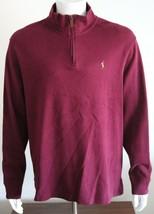 Polo Ralph Lauren Estate Rib Mens T-Shirt Wine 100% Cotton Size XL Quart... - $46.74