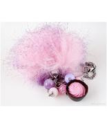 Kawaii Pom Pom Keychain, Bag Charm, Pastel Goth, Harajuku Fashion, Handmade - $26.00