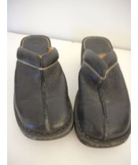 Born slip on Womens Size 7 Leather Black  Slides Clogs Mules - $24.74