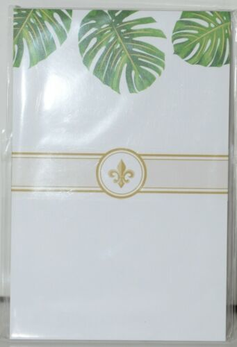 Faux Designs GP113 Tropical Leaf Gift Notepad 50 Tear off Sheets