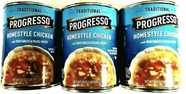 Progresso Traditional Homestyle Chicken Soup Vegetables Pearl Pasta 3-19... - $16.78