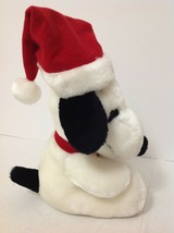 "Snoopy Santa Christmas Plush 11"" Tall  Peanuts  Stuffed Toy or Decoration - $14.84"