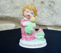 God Bless My Dolly Porcelain Figurine 1990 Avon Tender Memories Vintage - $9.99