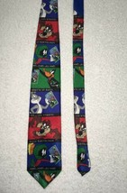 Vintage 1997 Looney Tunes USPS Stamp Collection Classic NeckTie Tie Novelty Mens - $10.88