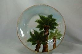 Tabletops Unlimited Baja Salad Plate Stoneware Palm Trees - $6.92