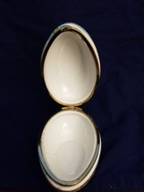 Lefton Decorated Porcelain Egg Jewelry Trinket Box XA-8068 - $5.94