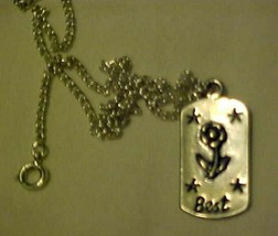 Necklace Silver Best Friends Friendship Pendant & Chain - $10.84