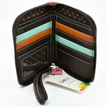 Chala Handbags Faux Leather Whimsical Unicorn Pink Zip Around Wristlet Wallet image 3
