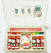 Hello Kitty Eraser with Case 1994' Old SANRIO Translucent Retro Cute Rare - $25.90