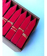 "2000 Red Plastic Plant Stakes Labels Nursery Tags Made in USA - 4"" X 5/8"" - $117.60"