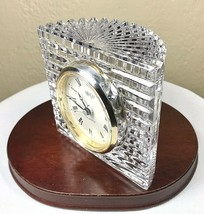 Mikasa Austria Sutton Place Crystal Clock Desk Mantel Ribbed Moon Quartz... - $19.75