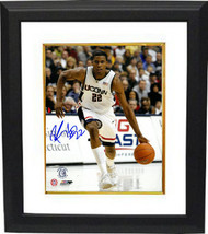Rudy Gay signed Connecticut Huskies 8x10 Photo Custom Framed (dribbling) - $84.95