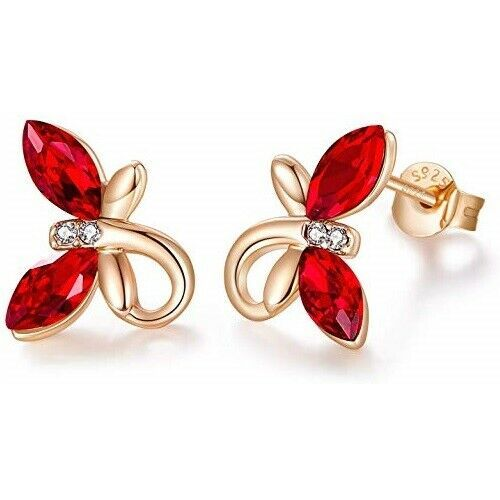 Primary image for Birthstone Jewelry Hypoallergenic Butterfly Stud Earrings S925 Sterling Silver
