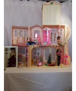Barbie 3-Story Dream House VTG + Christmas Train + New Barbie + Bike + T... - $192.02