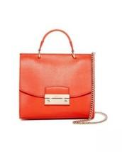 Furla 'julia' Mini Top Handle Saffiano Leather Orange Shoulder Bag Handbag Nwt - $189.00