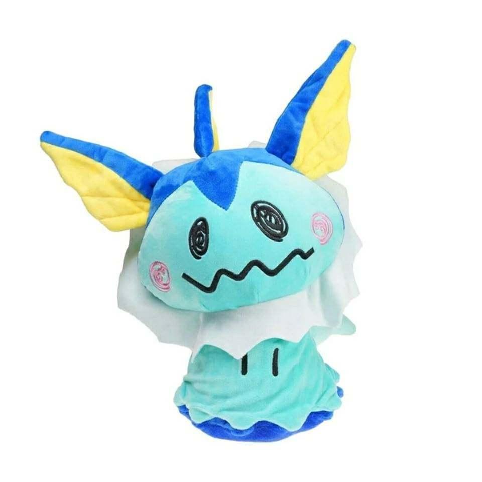28cm Mimikyu Vaporeon Eevee Pokemon Plush Toy Video Game Plush Nintendo Plush So - $85.05
