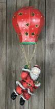 Santa Balloon Floating Decoration Plaster Hanging Vintage Look Christmas - $27.72