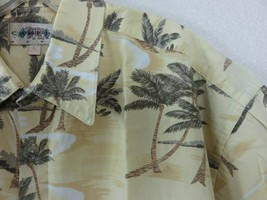 Campia Moda Tropical Aloha Friday Shirt Size L Match Pocket Palm Trees B... - $29.69