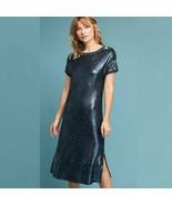 Women's Blue Moulinette Soeurs Interstellar Tunic Sequin Dress sz M - $66.76