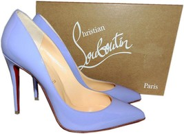 Christian Louboutin PIGALLE Follies Pumps Shoes 38.5 Hortensia Patent Le... - $479.99