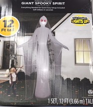 Airblown Inflatable Giant Spooky Spirit Ghost Halloween Decor 12Ft Tall ... - $70.01