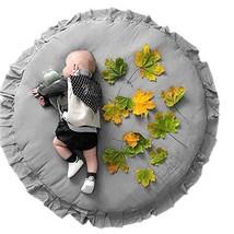 Wallfire Soft Breathable Baby Play Mat Round Ruffled Soft Cotton Crawling Pad Fl