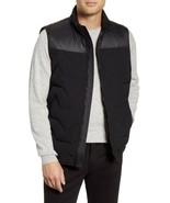 Vince Camuto Mixed Media Down Full Zip Vest Men's Medium Black VO072SV1582 - $43.56