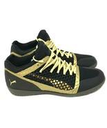 Puma 365 Ignite Netfit Court Trainer Sneakers Gold Black Men Size 11 MSR... - $65.42