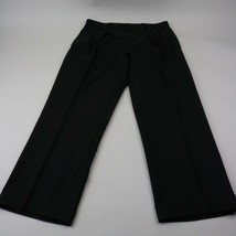Polo Ralph Lauren Mens Dress Pants Dark Gray Virgin Wool  Pleated Italy 32x28 - $59.39