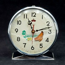 Vintage 1960's Pecking Chicken Wind Up Alarm Clock by Diamond Animated T... - $97.88
