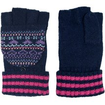 Womens Heart Angora Blend Flip Top Mitten Gloves - $15.00