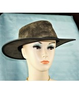 Barmah Suede Leather Foldaway Hat Waterproof Size XL Austrailia Style 1061 - $26.01